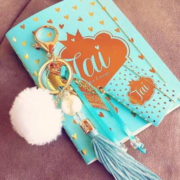 Caderno + Chaveiro Mini Caderno