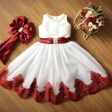 Vestido de Tule Branco - Infantil