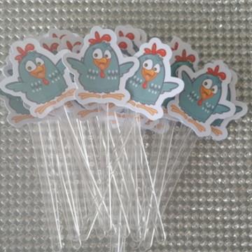 toppers para docinhos cupcakes galinha
