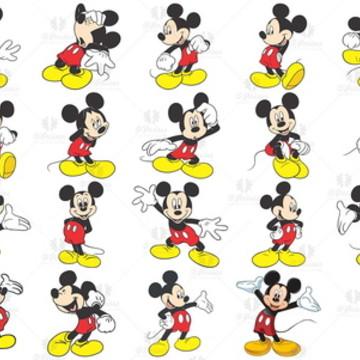 Kit -27 Elementos Digitais PNG - Mickey