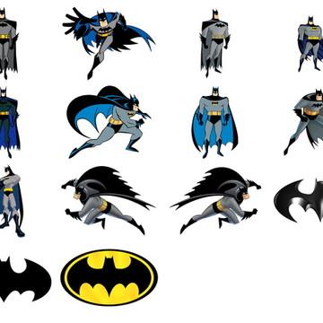 Kit -14 Elementos Digitais- Batman