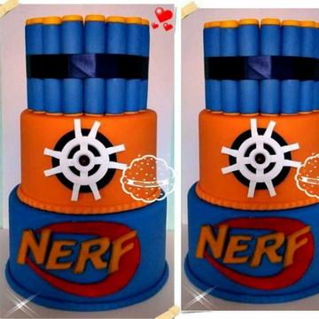 Bolo cenografico tema Nerf