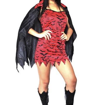 Fantasia Vampira adulto carnaval hallowe