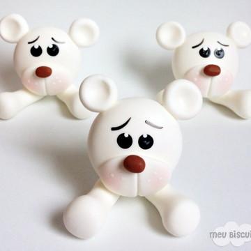Apliques ursinhos brancos