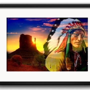 Quadro Indio Americano com Paspatur