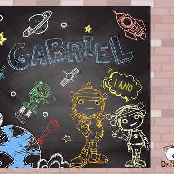 Arte - Painel em Chalkboard Floogals