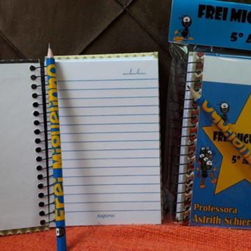 Kit caderninho personalizado