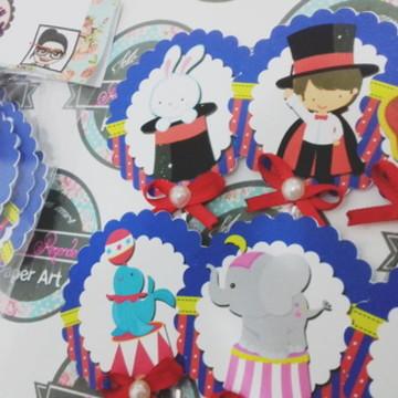 Topper de cupcake Circo