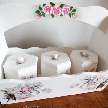 Kit Maternidade - Cesta com Três Potes Decorados