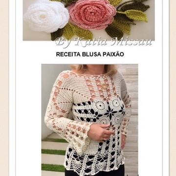 Receita Blusa Paixão - PDF