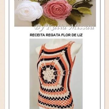 Receita Regata Flor de Liz - PDF