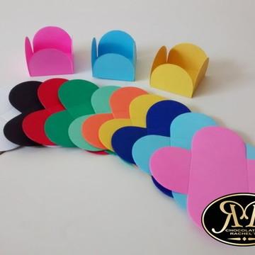 Forminha pétalas papel colorida