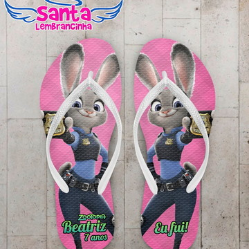 Chinelo Infantil Zootopia Rosa, Judy