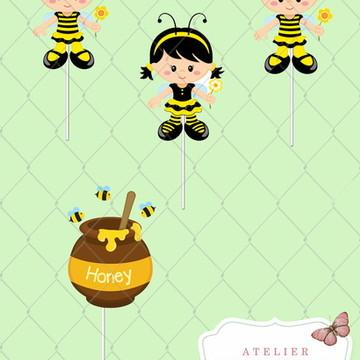 Toppers Abelhilha kit 01