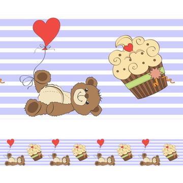 Faixa Para Quarto de Bebê -Urso Coração