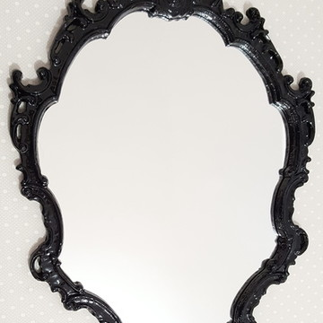 Espelho / Moldura Rococó Preto Fosco