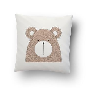 Capa de Almofada Estampada Animal Urso