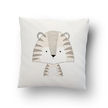 Capa de Almofada Estampada Animal Tigre