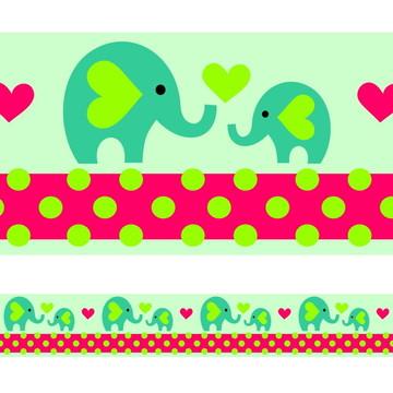 Faixa Para Quarto de Bebê - Elefante