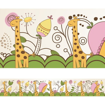 Faixa Para Quarto de Bebê - Girafa