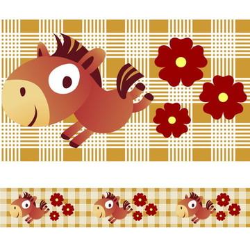 Faixa Para Quarto de Bebê - Cavalo