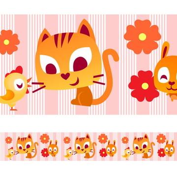 Faixa Para Quarto de Bebê - Gato e Cia