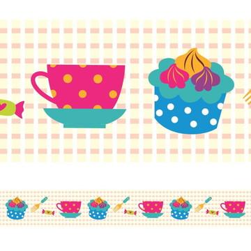 Faixa Para Quarto de Bebê - Cupcake