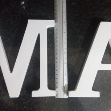 letras 18cm pintadas promoção