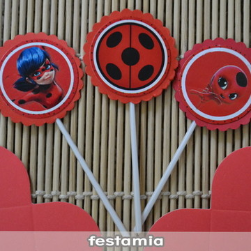 Toppers + Forminha Miraculous Lady Bug