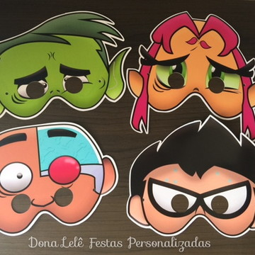 Máscaras - Jovens Titãs