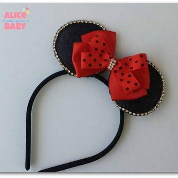 Tiara Minnie Vermelha Mod.1