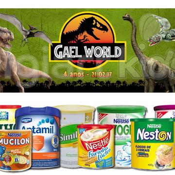 Rótulo para Lata de Leite Jurassic Park