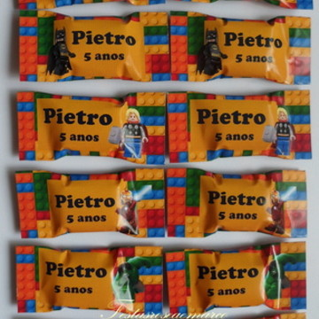 Bala Personalizada Lego Herois