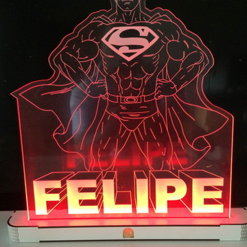 Promoção Luminária/Abajur Super Homem Seu Herói em Led