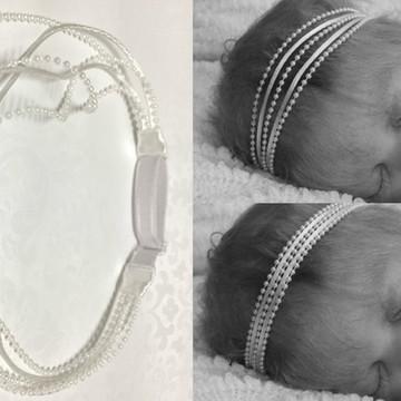 *FRETE GRÁTIS Faixa bebê batismo branco (regulável)