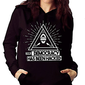 AGASALHO MOLETOM -MR ROBOT ( DEMOCRACY )