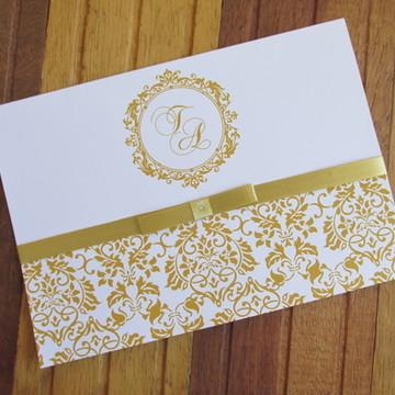 Convite de casamento - Convite de 15 anos - dourado