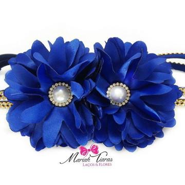 Headband strass flor Margarida