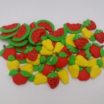 Apliques de Frutinhas em Biscuit