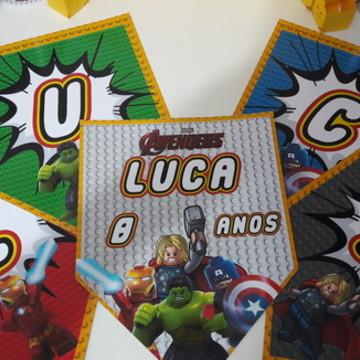 Bandeirola - Lego Avangers