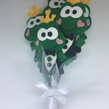 Buquê de Sapo Principe ($ por boneco)