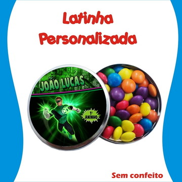 Latinha Lanterna Verde