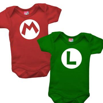 Body para Gêmeos - Mario e Luigi