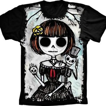 Camiseta Caveira Desenho