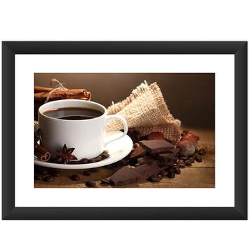 Quadro Café Chocolate Cozinha Cult Arte Xicara Bebdia Quente