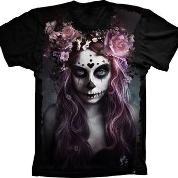 Camiseta Caveira Fashion Mulher