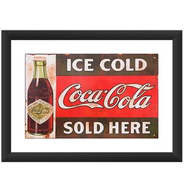 Quadro Coca Cola Retro Vintage Placa Art