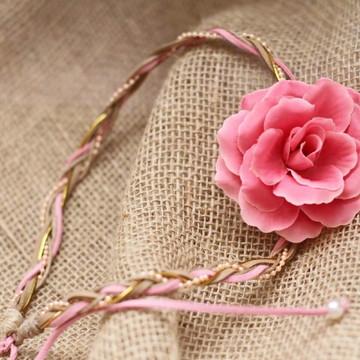 Headband Rosa linda