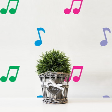 Mini Adesivo Nota Musical (Kit)
