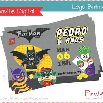 Convite Digital Lego Batman